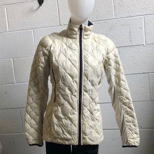 Lululemon ivory/black puffer jacket sz 6 59238